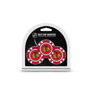 Chicago Blackhawks Golf 3 Pack Golf Chip 13588