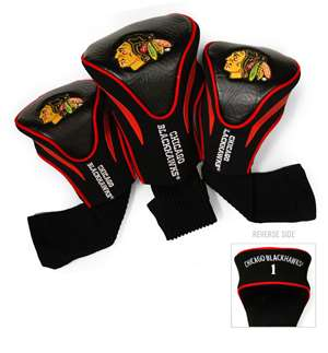 Chicago Blackhawks Golf 3 Pack Contour Headcover