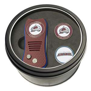 Colorado Avalanche Golf Tin Set - Switchblade, 2 Markers 13659