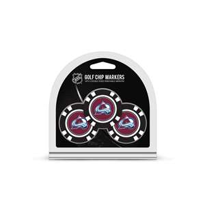 Colorado Avalanche Golf 3 Pack Golf Chip