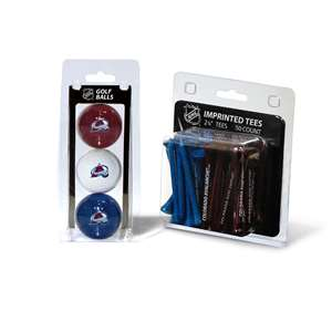 Colorado Avalanche  3 Golf Balls And 50 Golf Tees