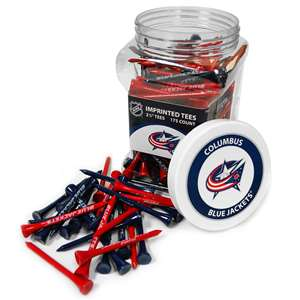 Columbus Blue Jackets Golf 175 Tee Jar 13751