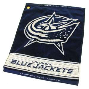 Columbus Blue Jackets  Jacquard Woven Golf Towel