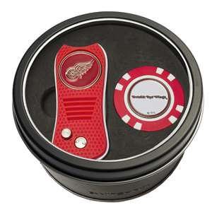 Detroit Red Wings Golf Tin Set - Switchblade, Golf Chip