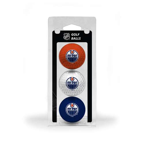 Edmonton Oilers Golf 3 Ball Pack 14005