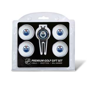 Edmonton Oilers Golf 4 Ball Gift Set 14006