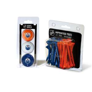Edmonton Oilers  3 Golf Balls And 50 Golf Tees