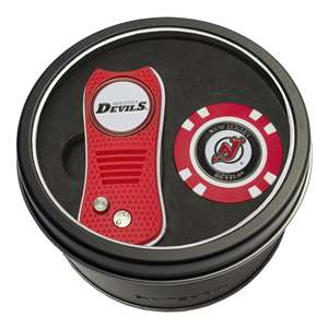 New Jersry Devils Golf Tin Set - Switchblade, Golf Chip