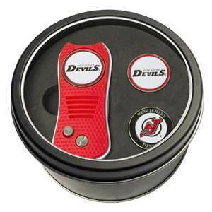 New Jersry Devils Golf Tin Set - Switchblade, 2 Markers 14659