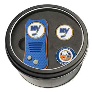 New York Islanders Golf Tin Set - Switchblade, 2 Markers 14759