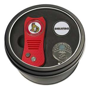 Ottawa Senators Golf Tin Set - Switchblade, Cap Clip, Marker 14957