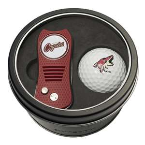 Arizona Coyotes Golf Tin Set - Switchblade, Golf Ball