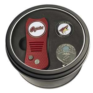 Arizona Coyotes Golf Tin Set - Switchblade, Cap Clip, Marker