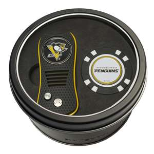 Pittsburgh Penguins Golf Tin Set - Switchblade, Golf Chip