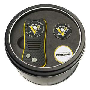 Pittsburgh Penguins Golf Tin Set - Switchblade, 2 Markers 15259