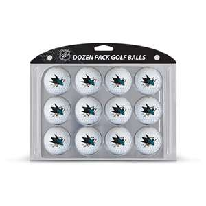 San Jose Sharks Golf Dozen Ball Pack 15303