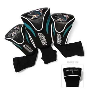 San Jose Sharks Golf 3 Pack Contour Headcover 15394