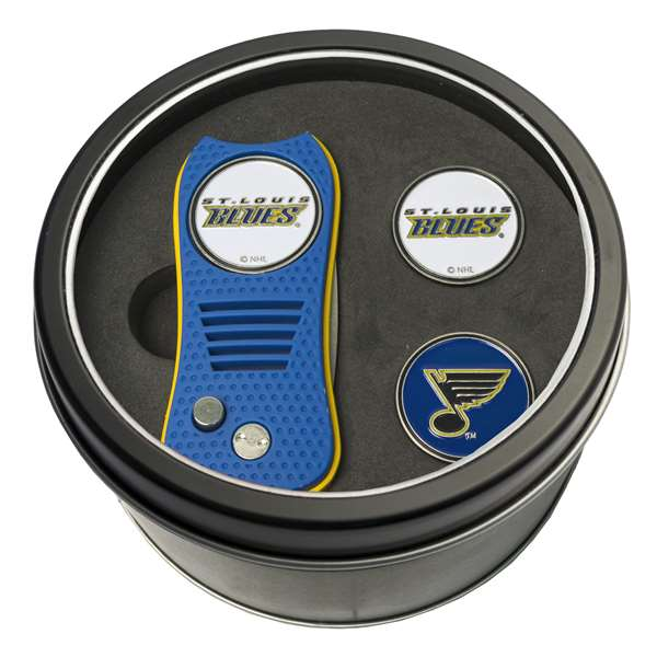 St. Louis Blues Golf Tin Set - Switchblade, 2 Markers
