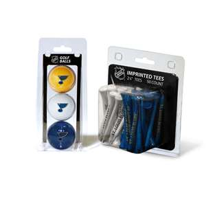 St Louis Blues  3 Golf Balls And 50 Golf Tees