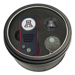 University of Arizona Wildcats Golf Tin Set - Switchblade, Cap Clip, Marker