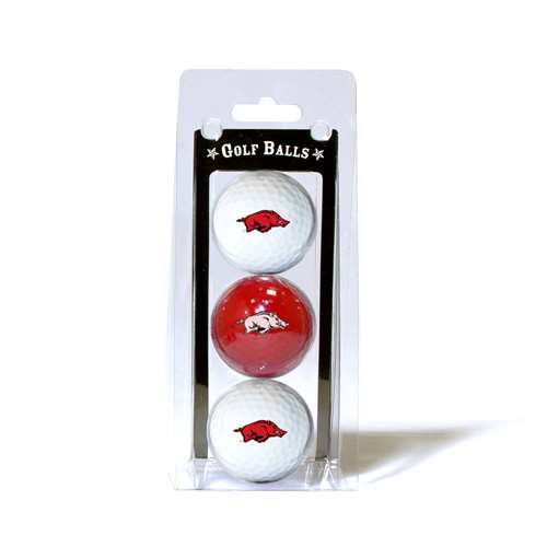 University of Arkansas Razorbacks Golf 3 Ball Pack