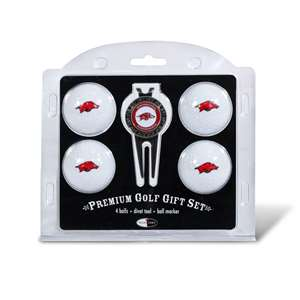 University of Arkansas Razorbacks Golf 4 Ball Gift Set