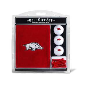University of Arkansas Razorbacks Golf Embroidered Towel Gift Set