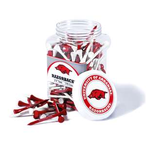 ARKANSAS (UNIVERSITY OF)  Golf Tee - 175 Count Jar of Tees