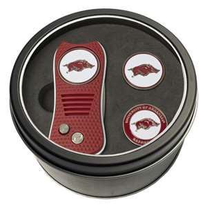 University of Arkansas Razorbacks Golf Tin Set - Switchblade, 2 Markers