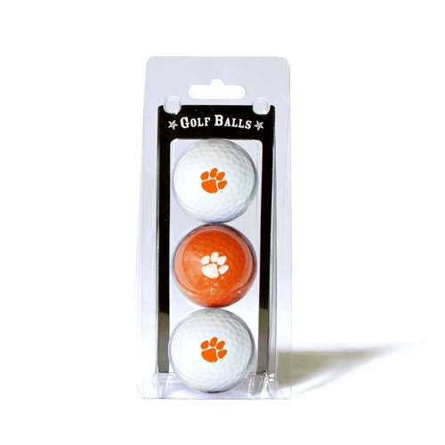 Clemson University Tigers Golf 3 Ball Pack
