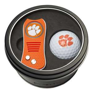 Clemson University Tigers Golf Tin Set - Switchblade, Golf Ball