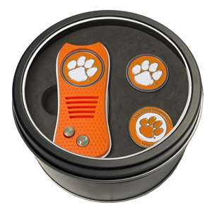 Clemson University Tigers Golf Tin Set - Switchblade, 2 Markers