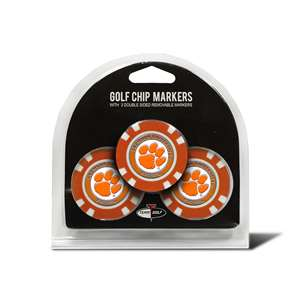 Clemson University Tigers Golf 3 Pack Golf Chip