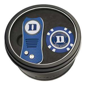 Duke University Blue Demons Golf Tin Set - Switchblade, Golf Chip
