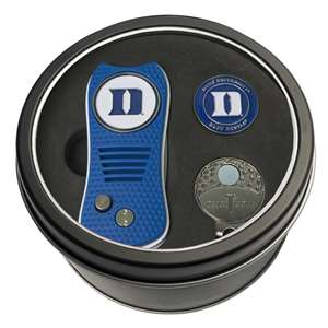 Duke University Blue Demons Golf Tin Set - Switchblade, Cap Clip, Marker