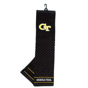 Georgia Tech Yellow Jackets Golf Embroidered Towel