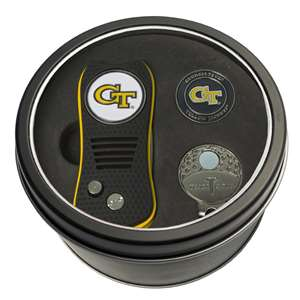 Georgia Tech Yellow Jackets Golf Tin Set - Switchblade, Cap Clip, Marker 21257