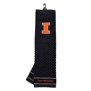 University of Illinois Fighting Illini Golf Embroidered Towel