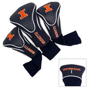 ILLINOIS (UNIVERSITY OF) Golf Club Headcover Contour 3 Pack