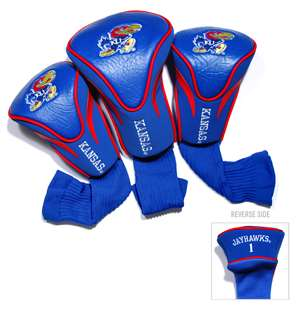 University of Kansas Jayhawks Golf 3 Pack Contour Headcover 21794