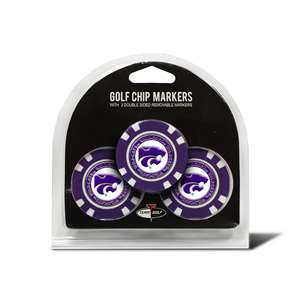 Kansas State University Wildcats Golf 3 Pack Golf Chip