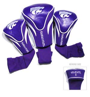 Kansas State University Wildcats Golf 3 Pack Contour Headcover