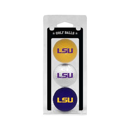 LSU Louisiana State University Tigers Golf 3 Ball Pack 22005