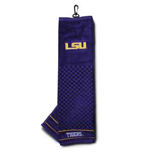 LSU Louisiana State University Tigers Golf Embroidered Towel