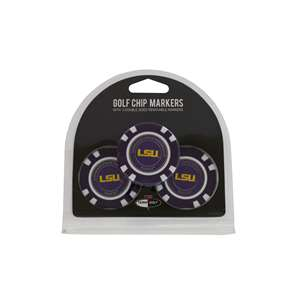 LSU Louisiana State University Tigers Golf 3 Pack Golf Chip