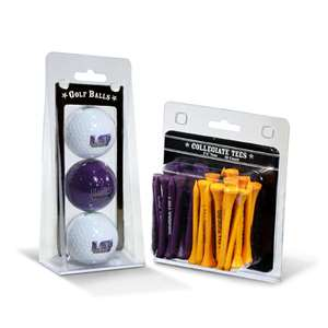 LSU Tigers  3 Golf Balls And 50 Golf Tees