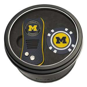 University of Michigan Wolverines Golf Tin Set - Switchblade, Golf Chip