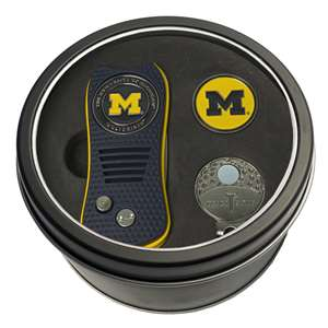 University of Michigan Wolverines Golf Tin Set - Switchblade, Cap Clip, Marker