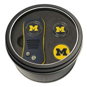 University of Michigan Wolverines Golf Tin Set - Switchblade, 2 Markers