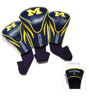 University of Michigan Wolverines Golf 3 Pack Contour Headcover